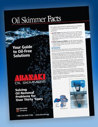 Oil Skimmer Facts Handbook