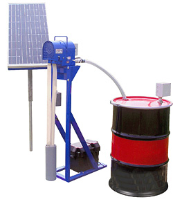 Solar Powered Oil Skimmer Groundwater Remediation