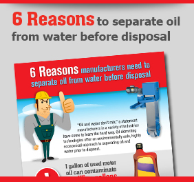 6 reasons to separate oil from water before disposal